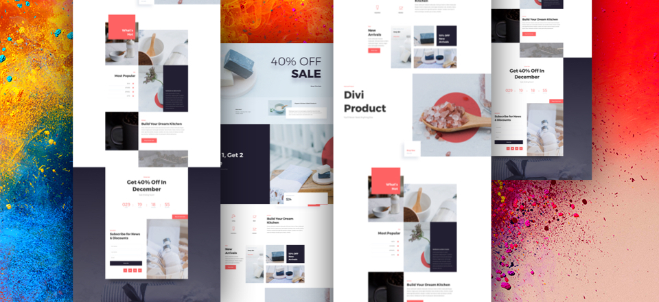 Divi Boutique Sale Landing Page Layout