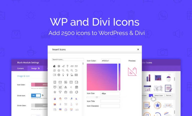 Download WP and Divi Icons Plugin