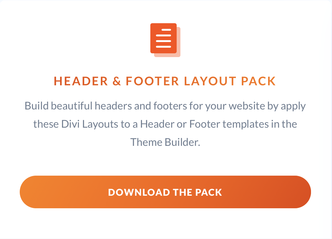 Divi HEADER & FOOTER LAYOUT PACK