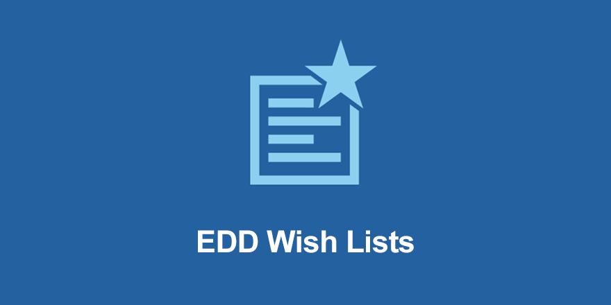 Easy Digital Downloads Wish Lists Addon