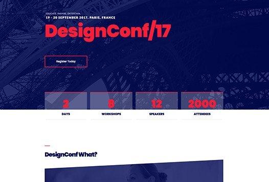 Elementorism DesignConf Landing Page
