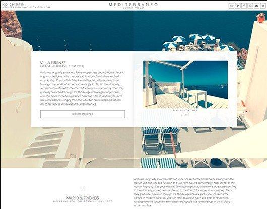 Elementorism Mediterraneo Landing Page