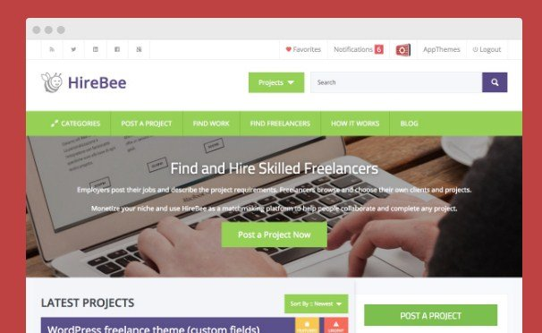 AppThemes Hirebee Wordpress Themes