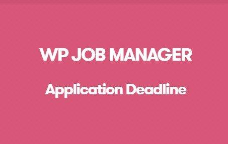 WP Job Manager Application Deadline Addon
