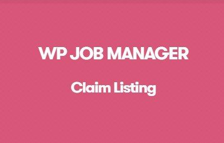 WP Job Manager Claim Listing Addon