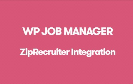 WP Job Manager ZipRecruiter Integration Addon