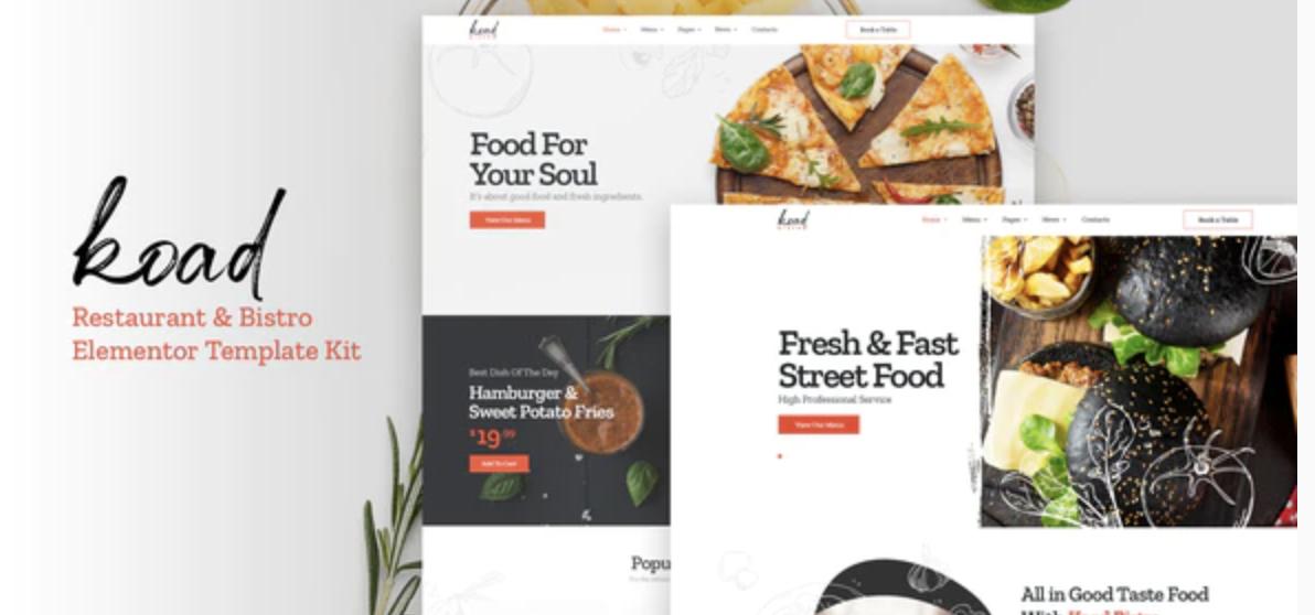 Koad – Restaurant & Bistro Elementor Template Kits