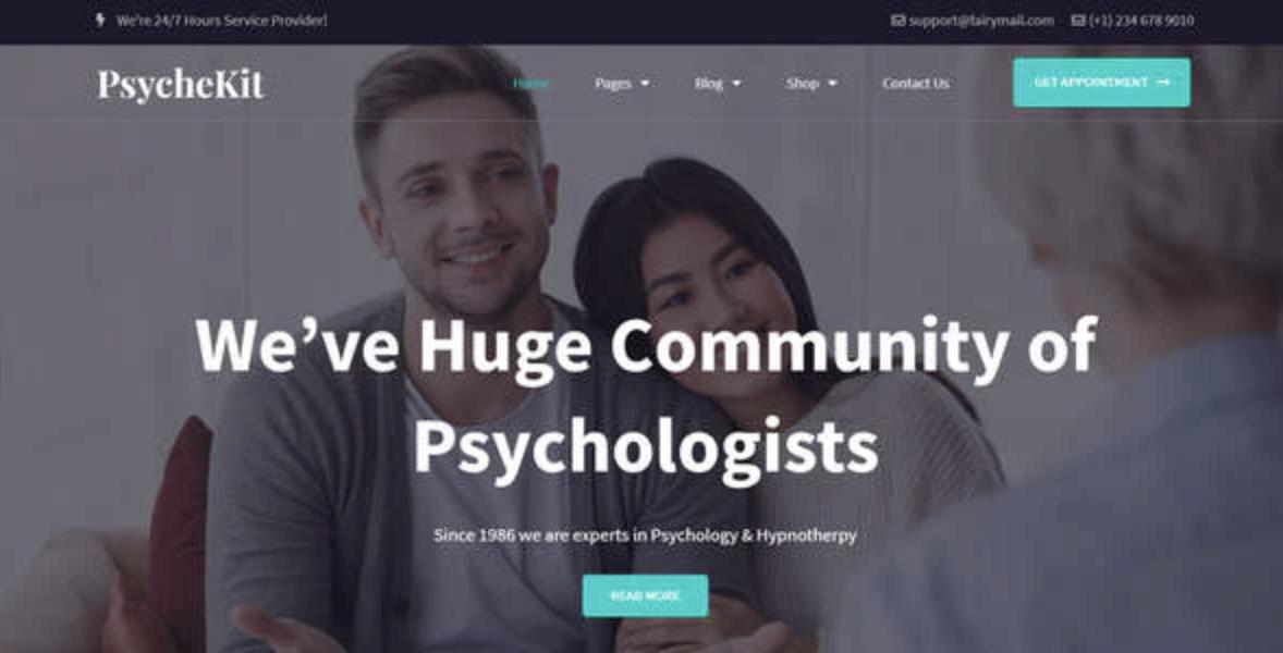 PsycheKit – Elementor Template Kit