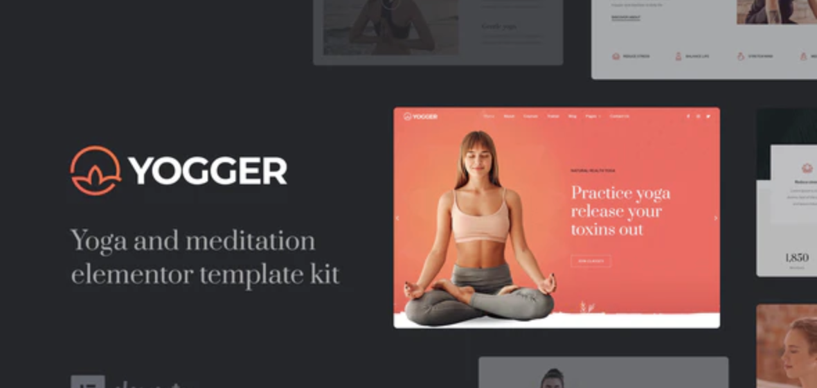 Yogger – Meditation and Yoga Elementor Template Kit