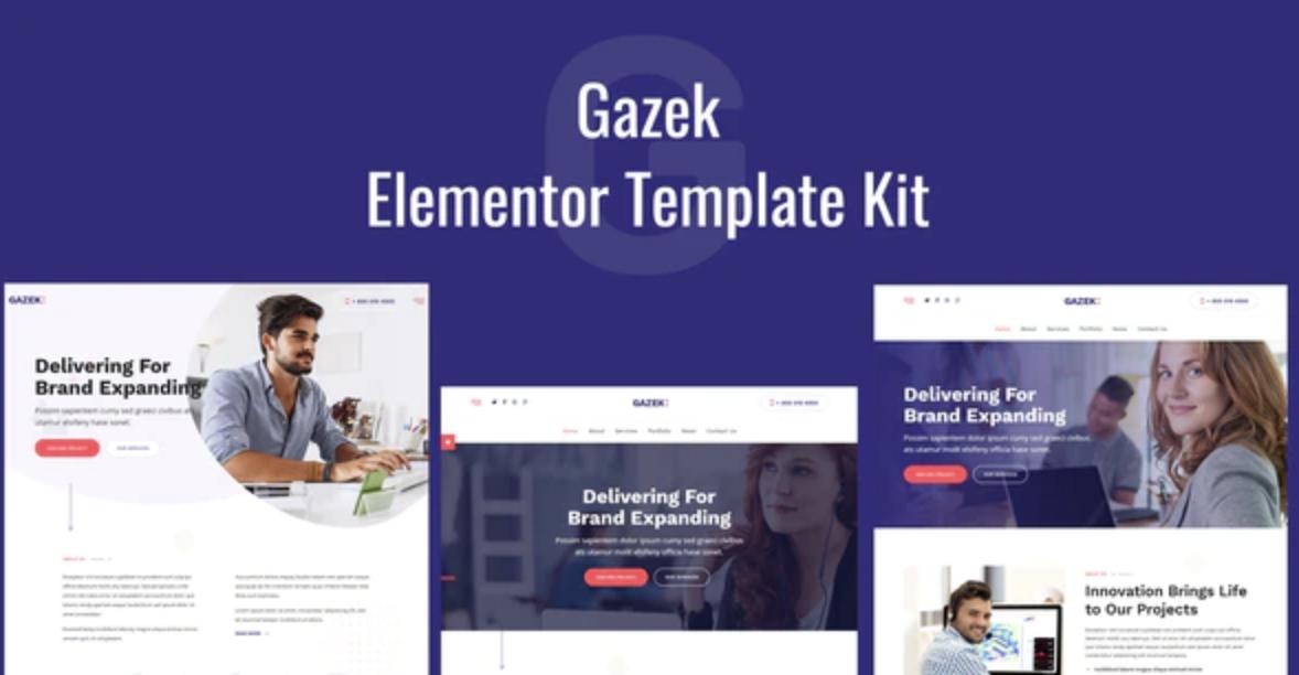 Gazek – Agency Portfolio Elementor Template Kit