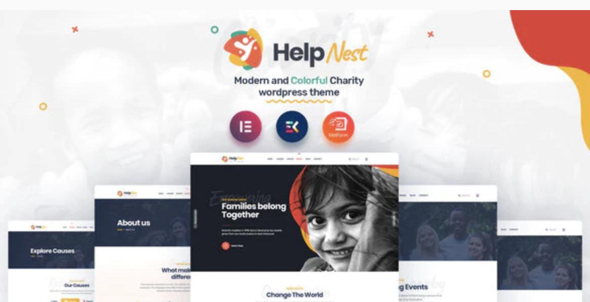 Helpnest – Charity Elementor Template Kit