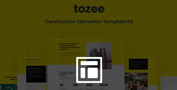 Tozee – Construction Elementor Template Kit