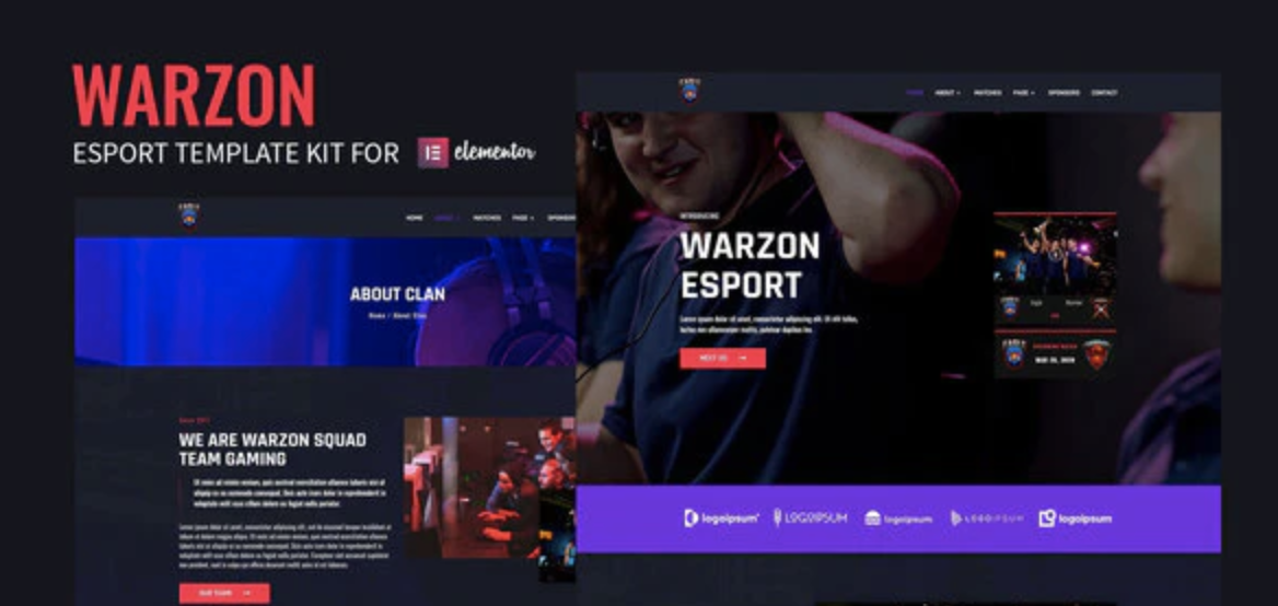 Warzon – Esport Elementor Template Kit