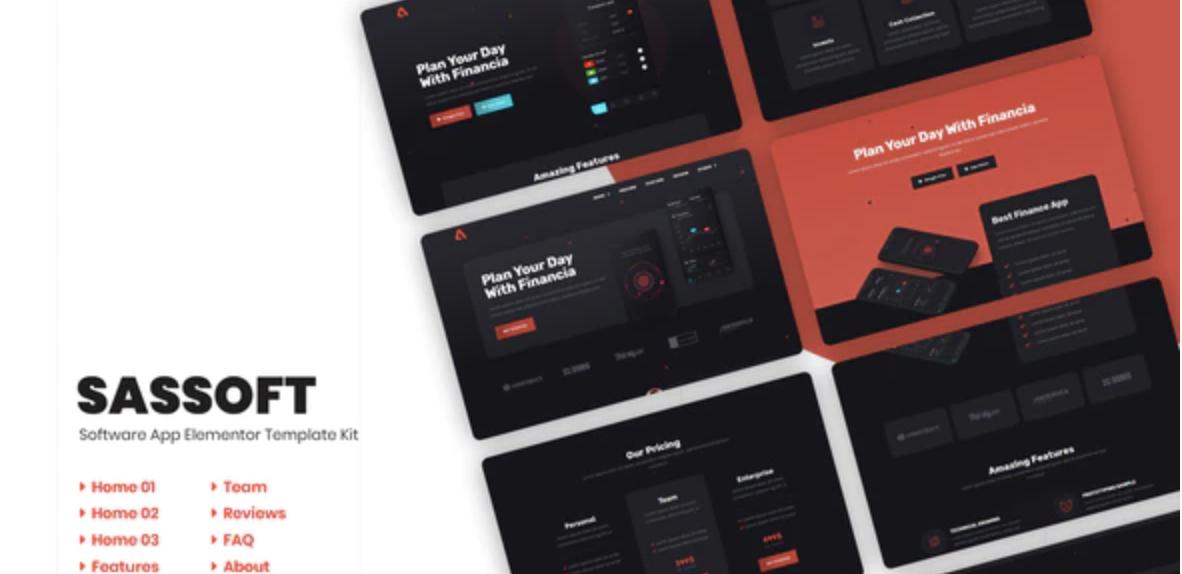 Sassoft | AppKit Elementor Template Kit