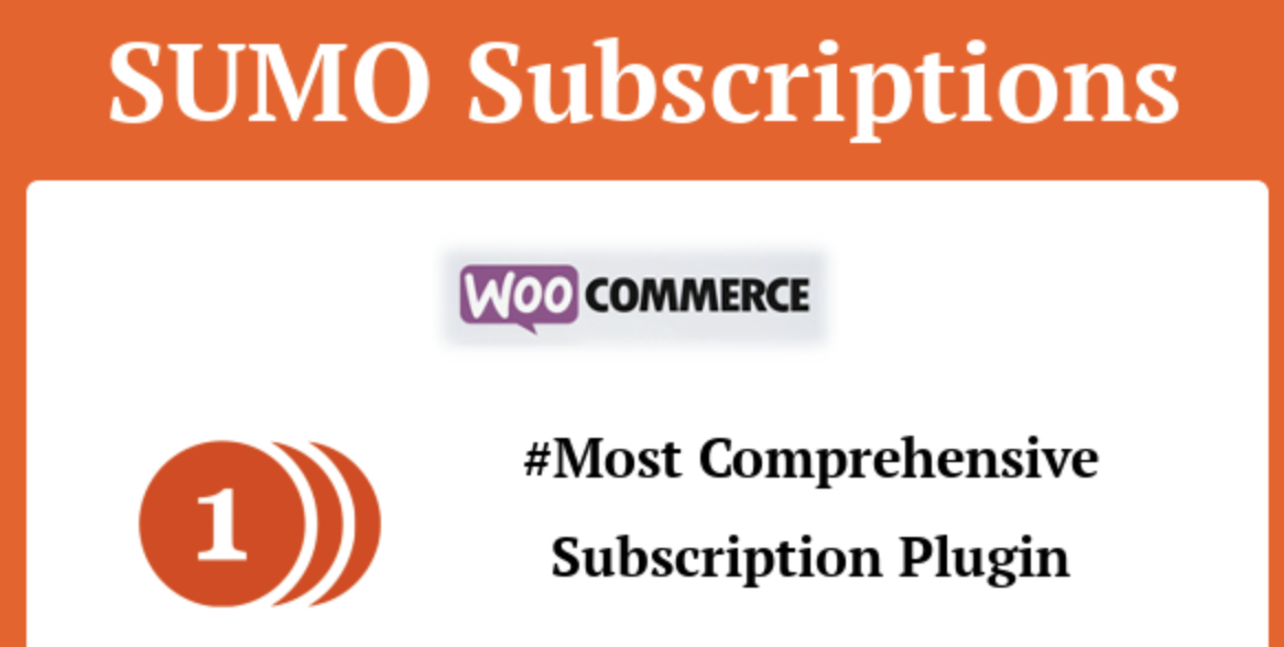 SUMO Subscriptions – WooCommerce Subscription System