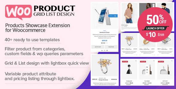 WOO Product Grid/List Design – Showcase for Woocommerce