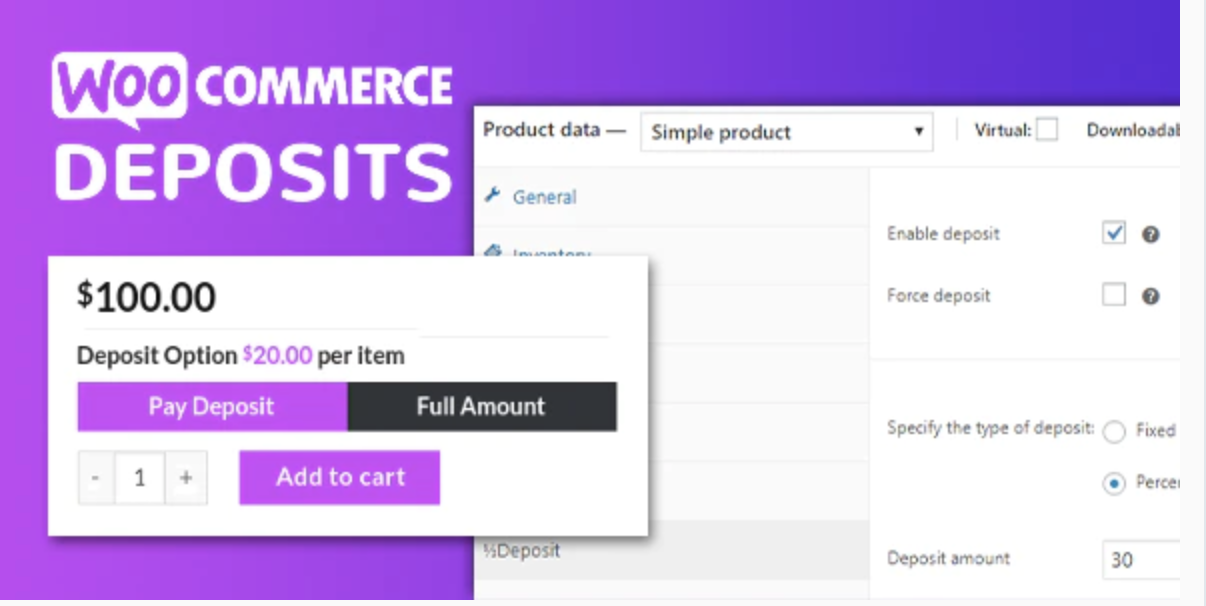 WooCommerce Deposits – Partial Payments Plugin
