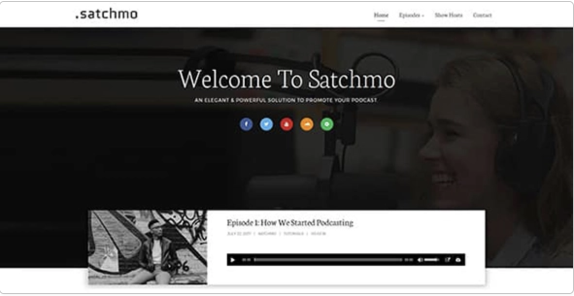 Satchmo Podcasting WordPress Theme