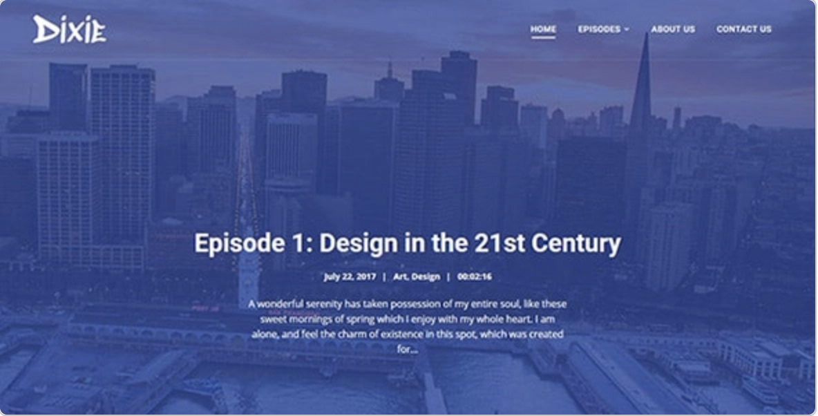 Dixie Podcasting WordPress Theme