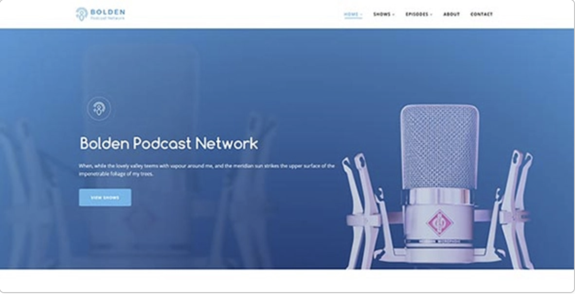 Bolden Podcasting WordPress Theme