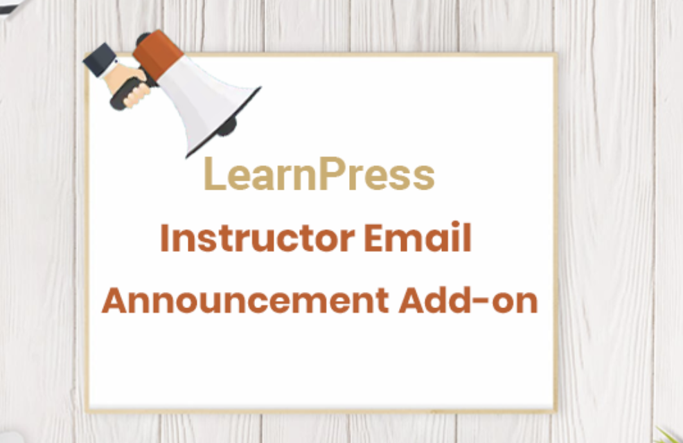 LearnPress Announcements Add-on