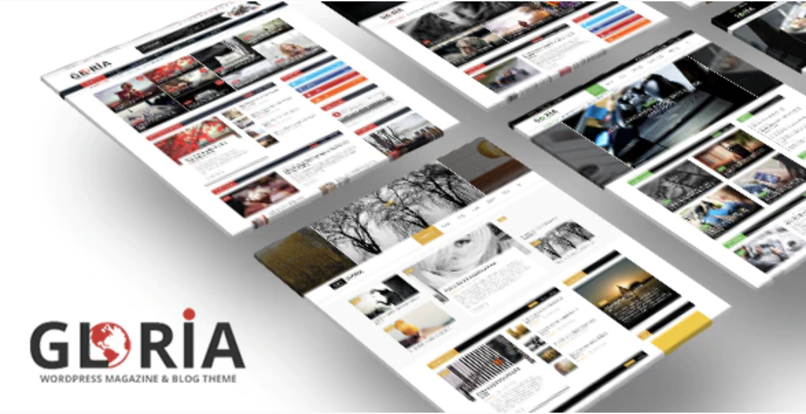 Gloria Responsive eCommerce News Magazine Newspaper WordPress Theme