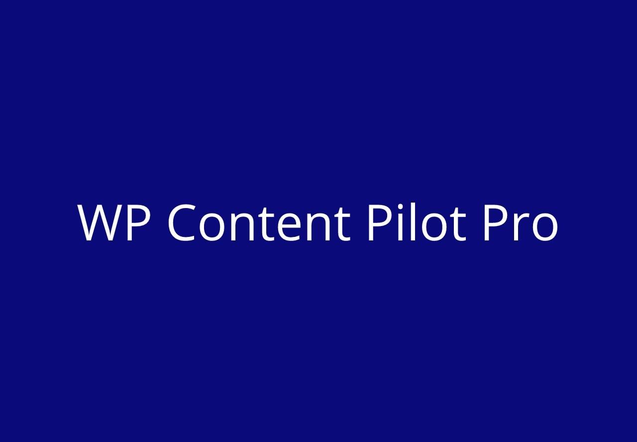 WP Content Pilot Pro
