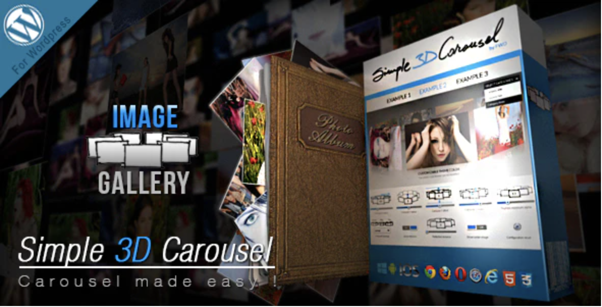 Simple 3D Carousel WordPress Plugin