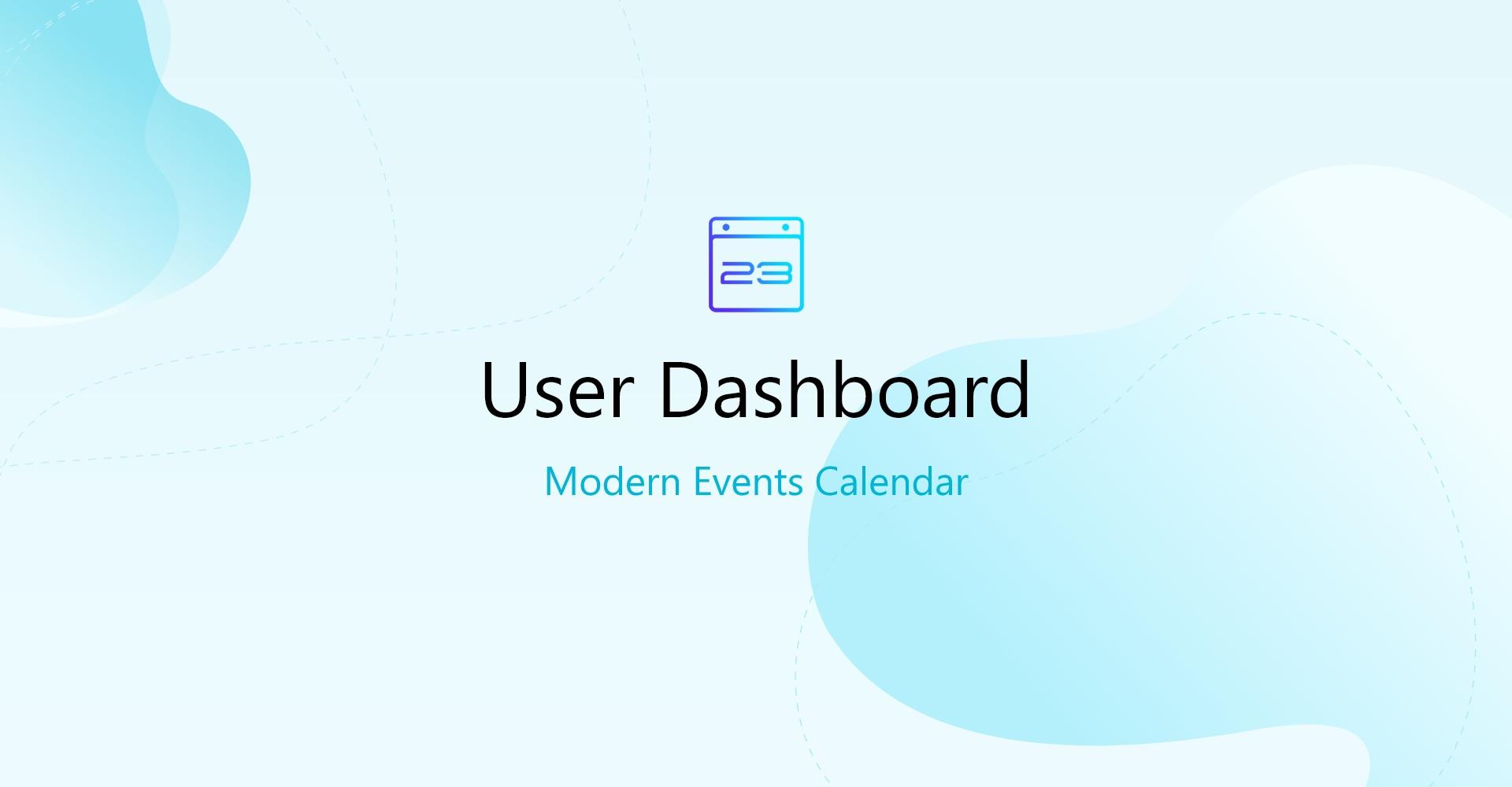Modern Events Calendar User Dashboard