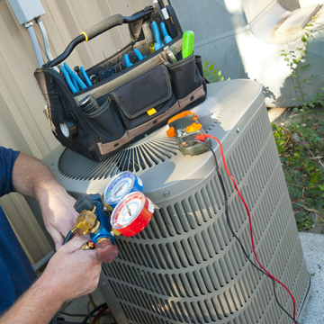 HVAC maintenance during perfect fall weather