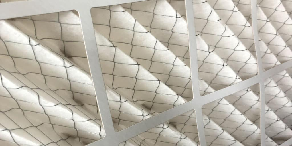 wet HVAC air filter