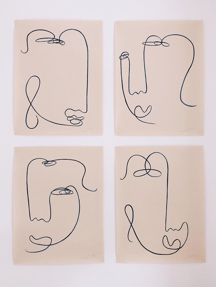 Blind drawings I
