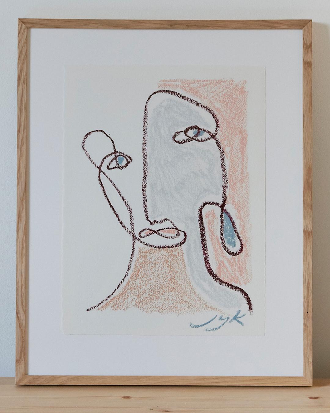 Pastel Portrait III (Framed)