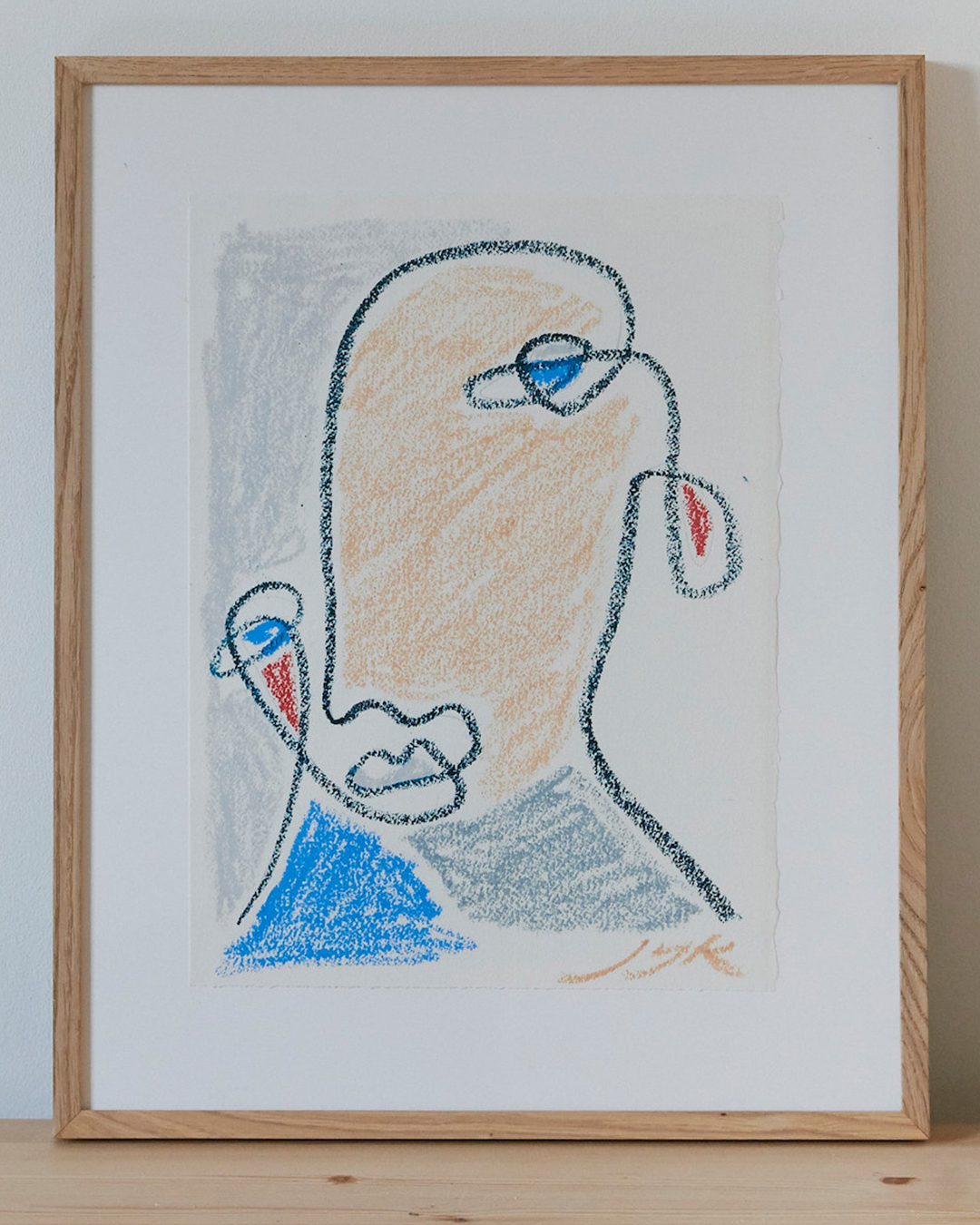 Pastel Portrait II (Framed)
