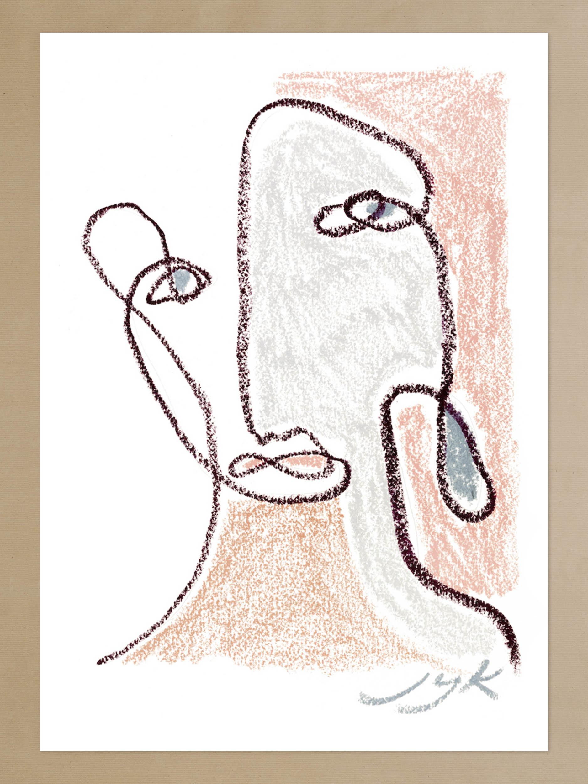 Pastel Portrait Print III
