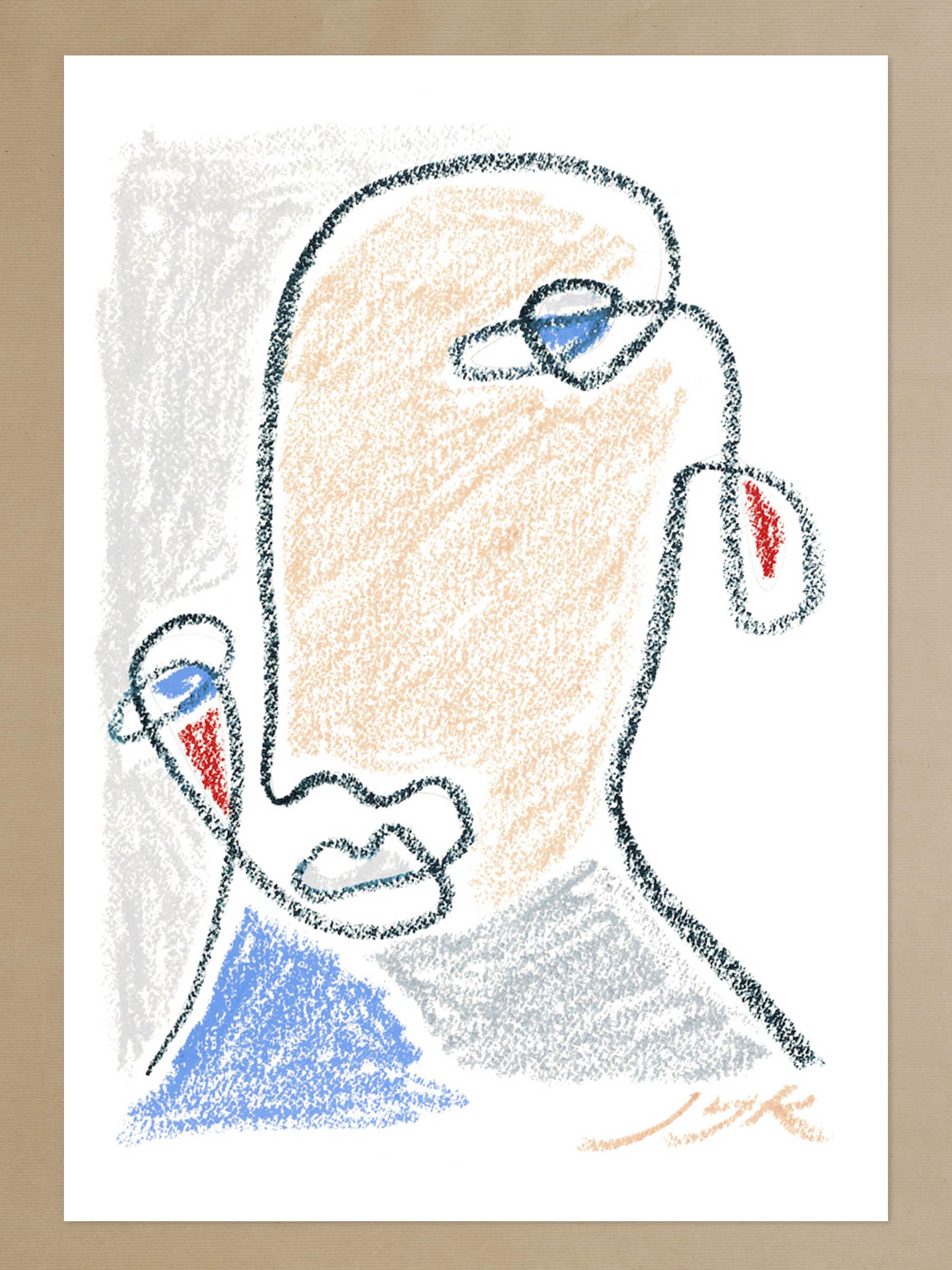 Pastel Portrait Print II