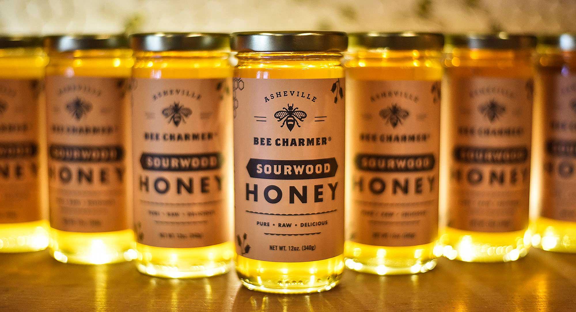 Asheville Bee Charmer Label Design