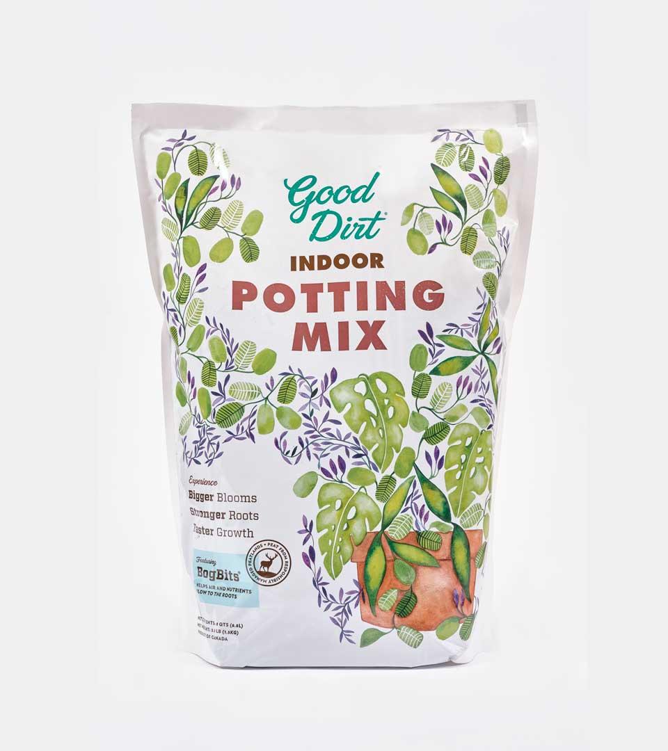Good Dirt Indoor Potting Mix packaging design