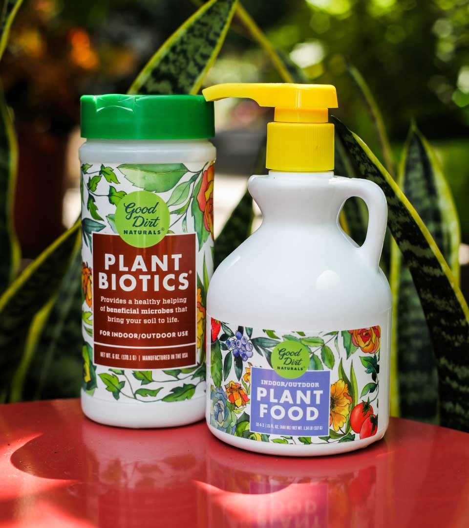 Good Dirt Plant Nutrition Label Design