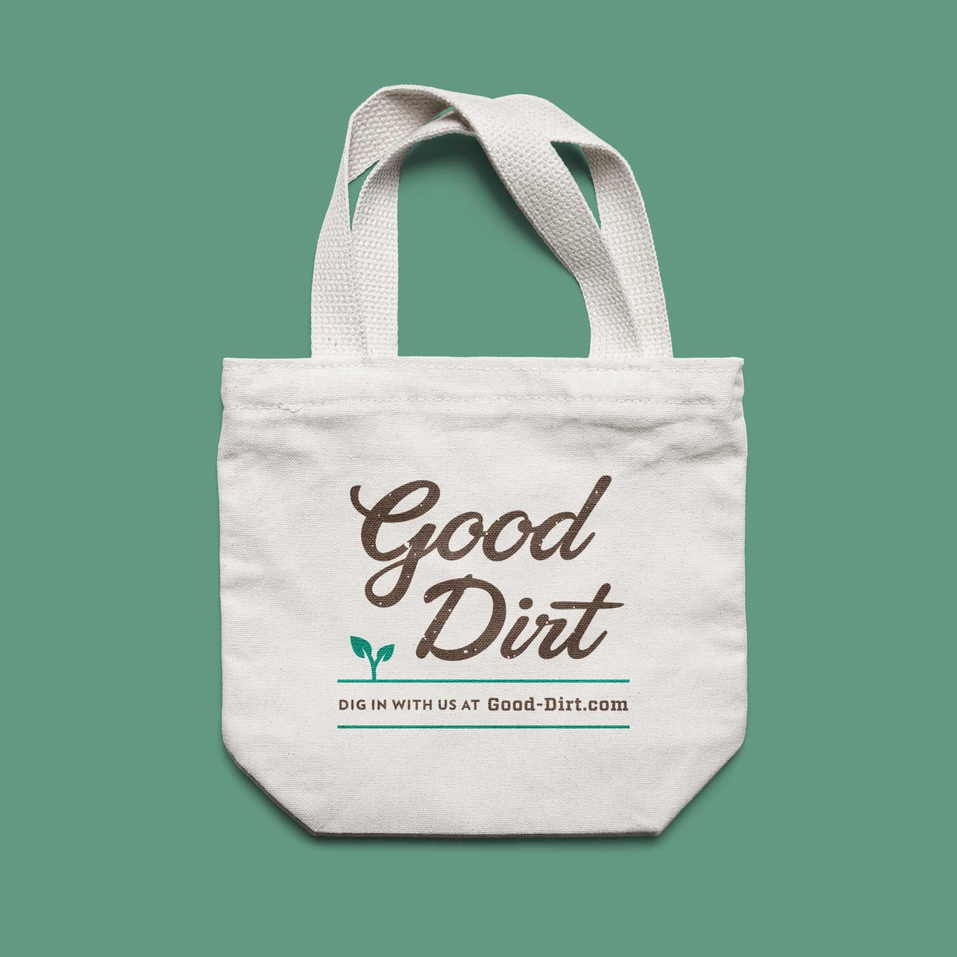 Good Dirt canvas bag mockup