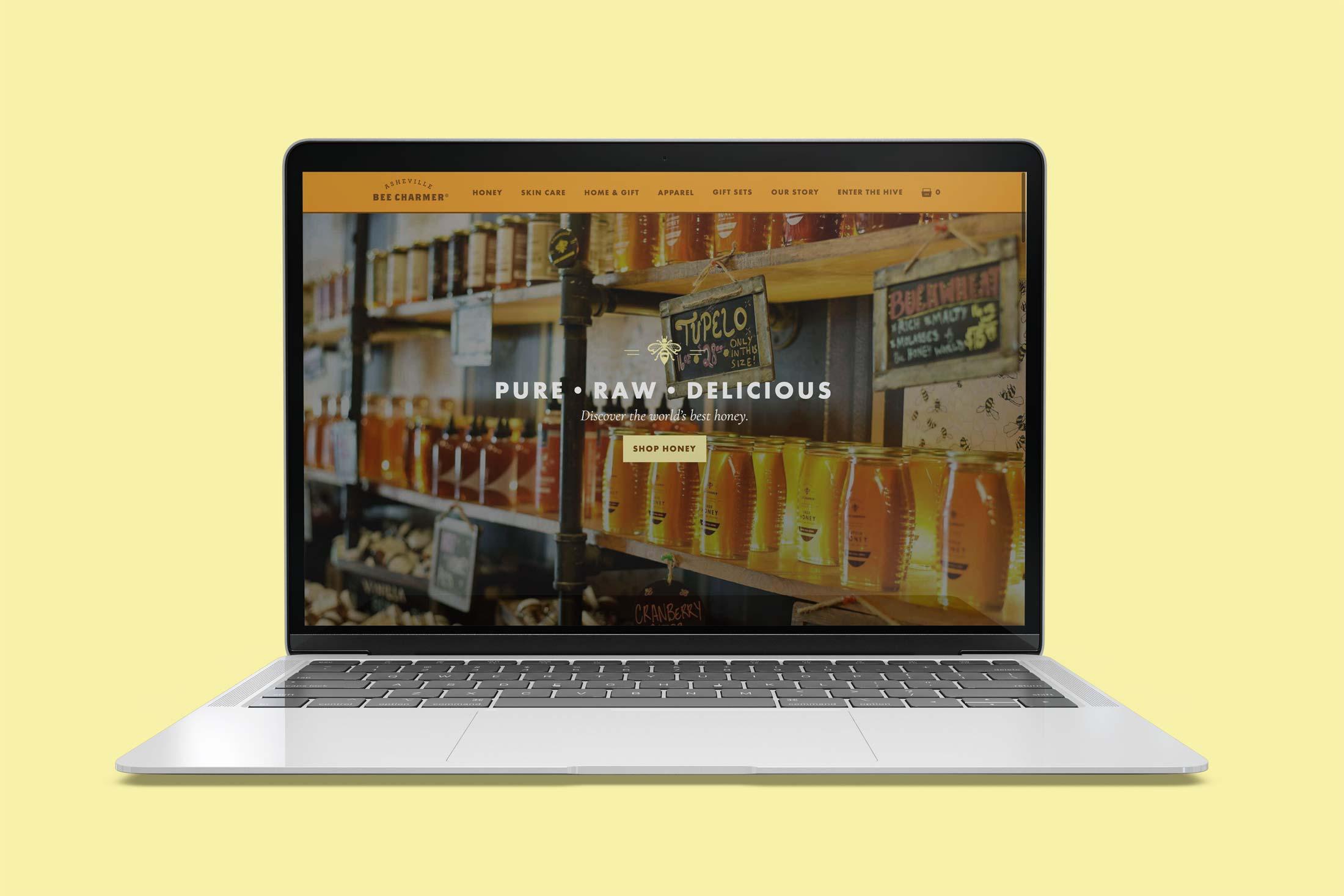 Asheville Bee Charmer Website Design