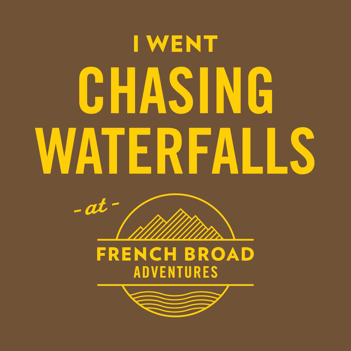 French Broad Adventures shirt design