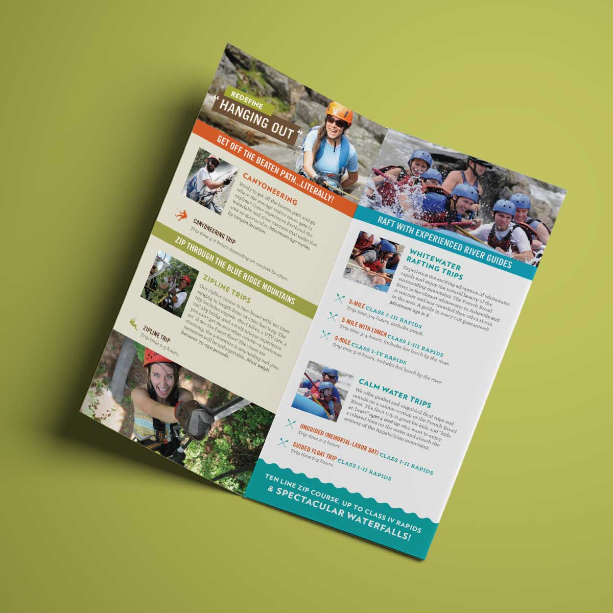 French Broad Adventures brochure inside