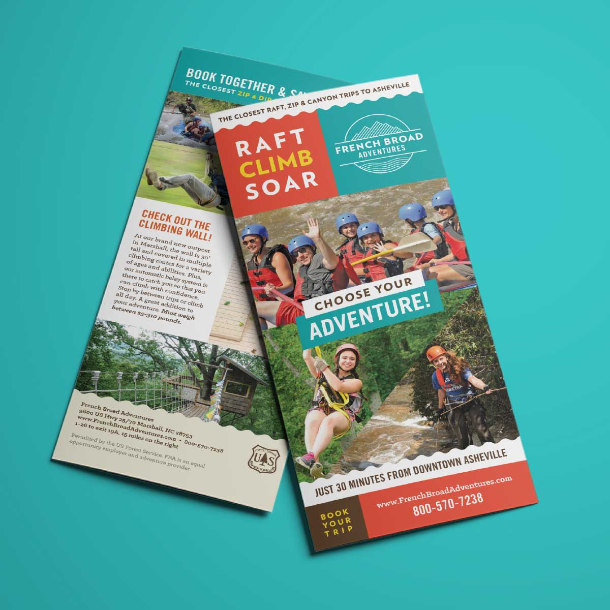 French Broad Adventures brochure outside