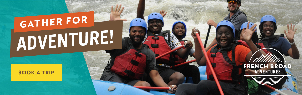 French Broad Adventures rafting ad