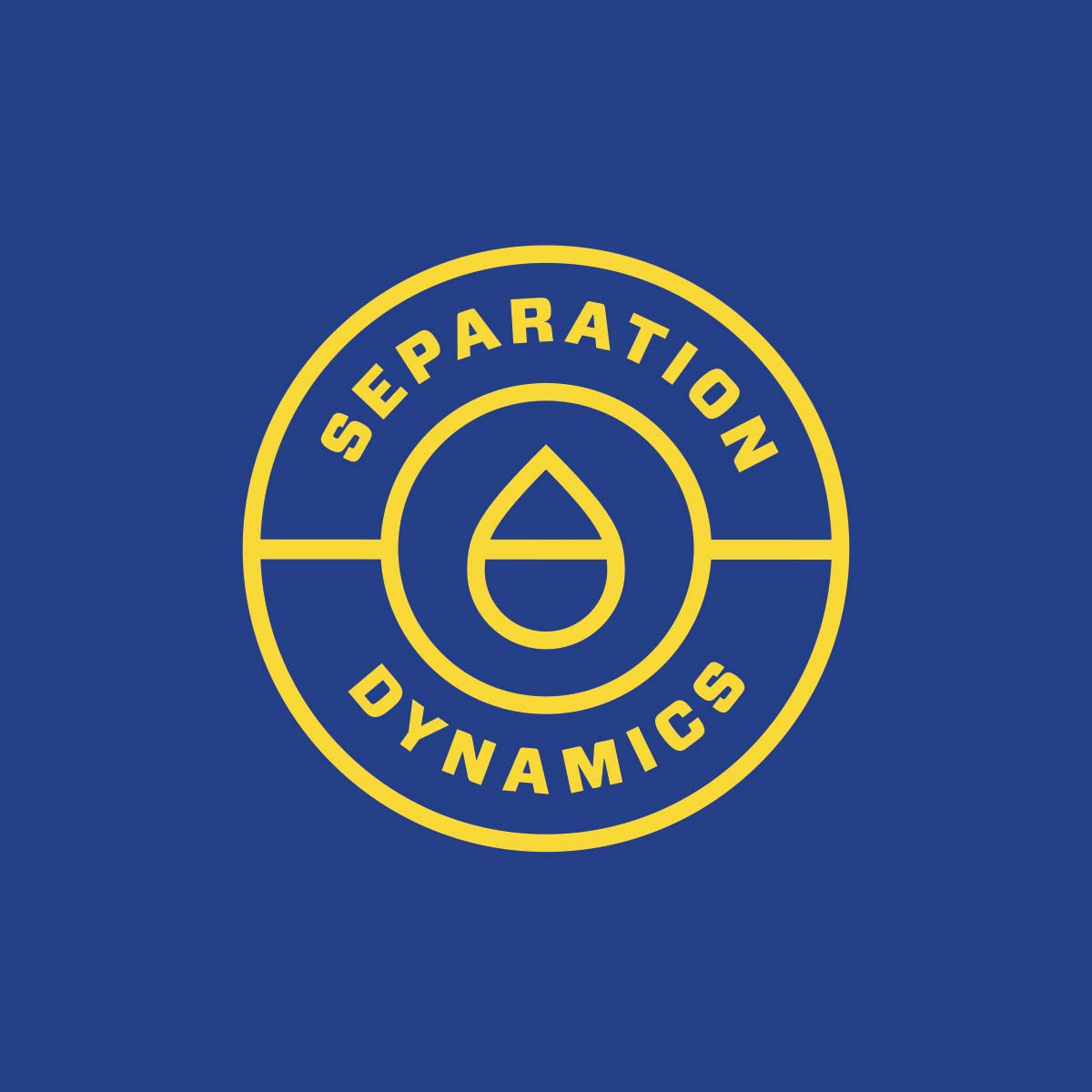 Separation Dynamics logo clear on blue background