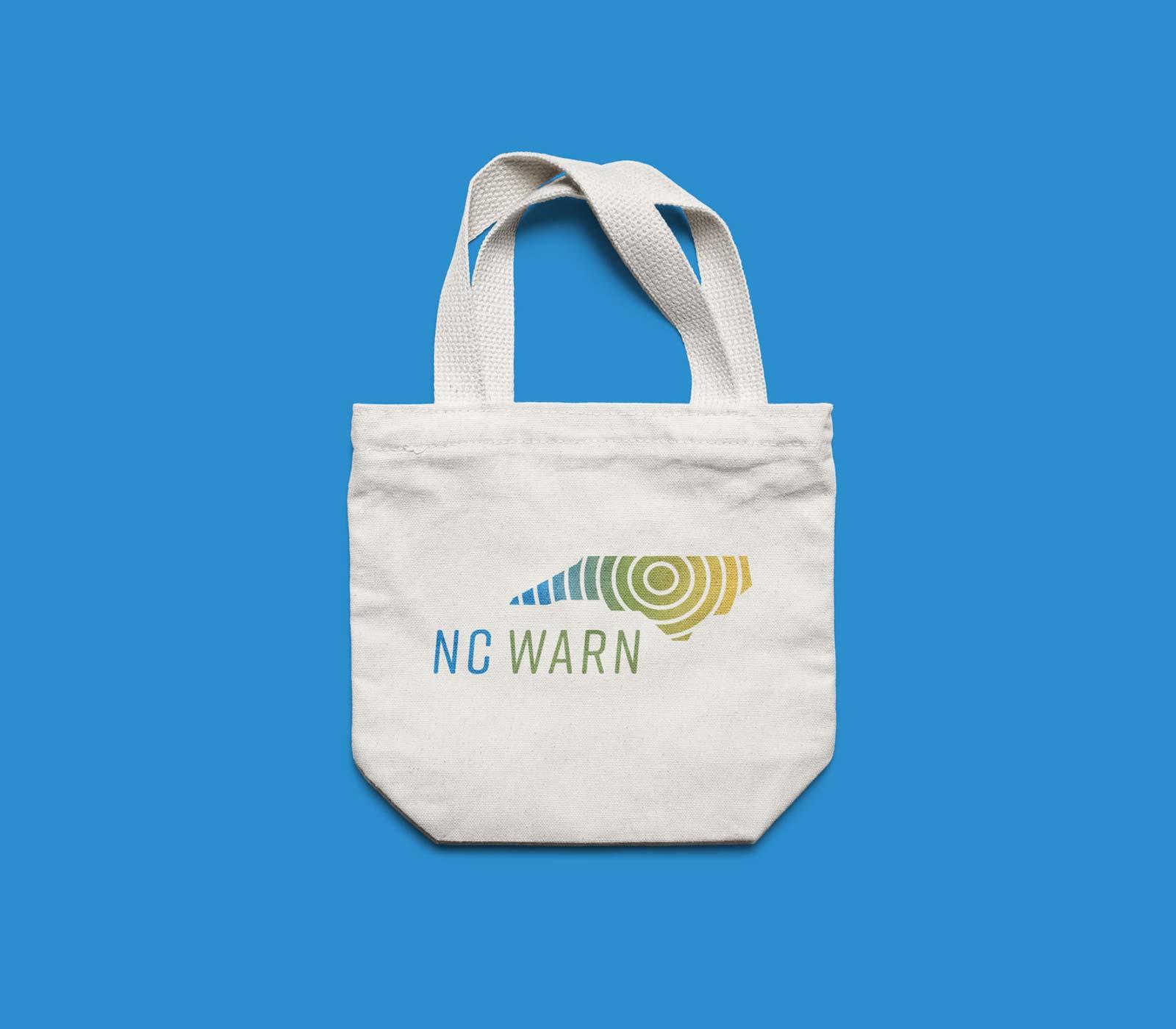 NC WARN tote bag design