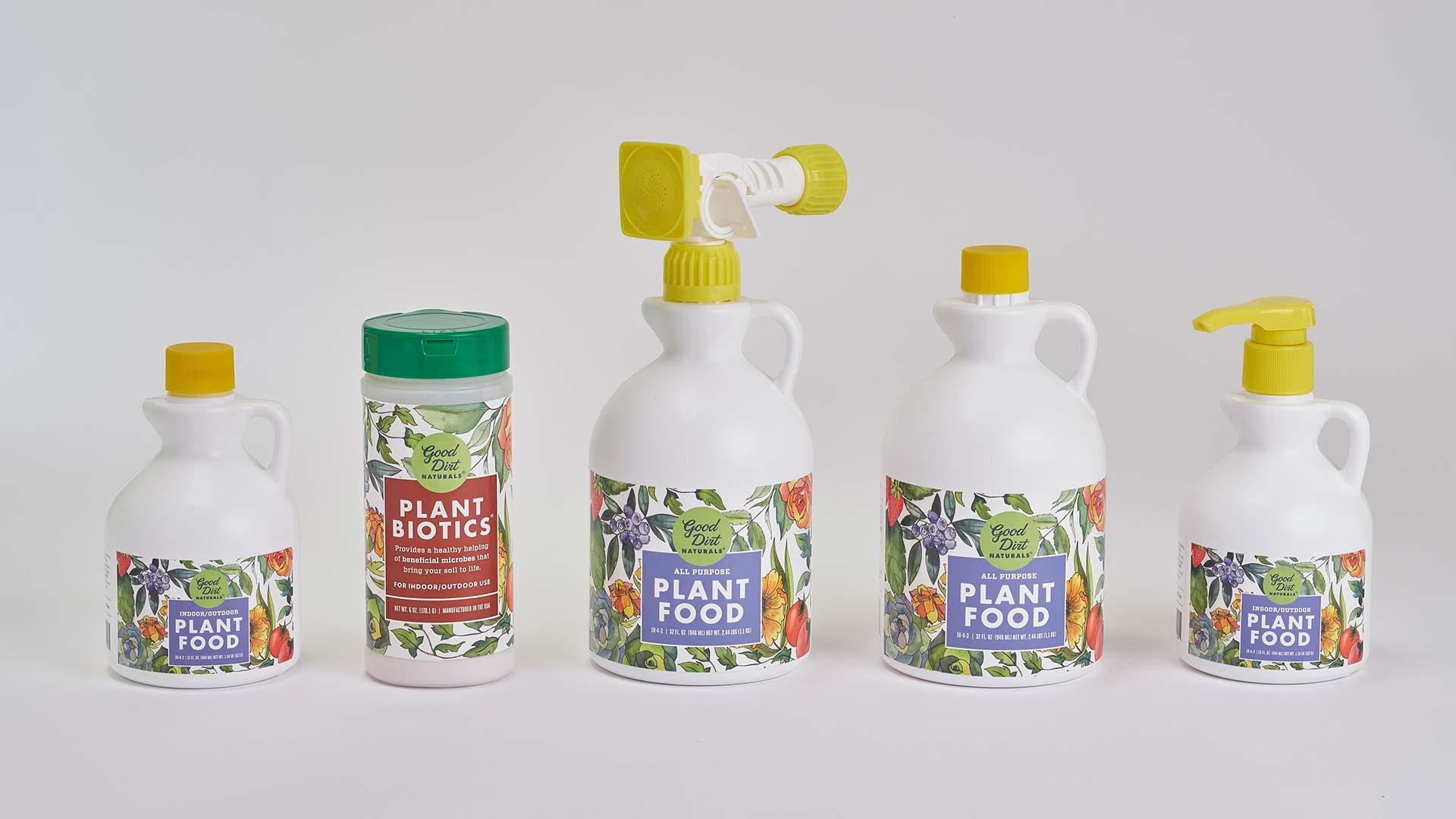 Good Dirt plant nutrition packaging design