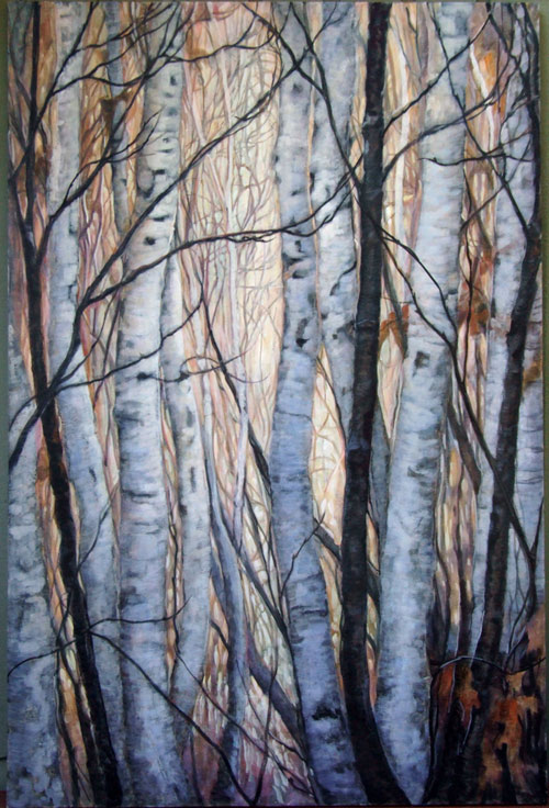 Birch Grove at Dusk