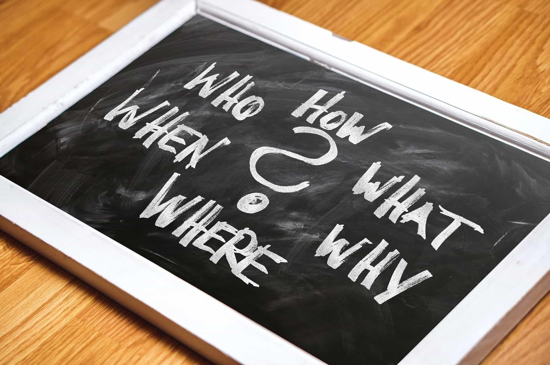 Krijtbord om ideeën op te schrijven voor het ontwerpen van een website of webshop